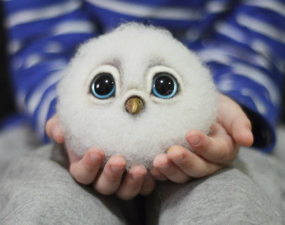 Needle Felted Doll - Little Owl. A perfect gift for everyone. Owl needle felted…