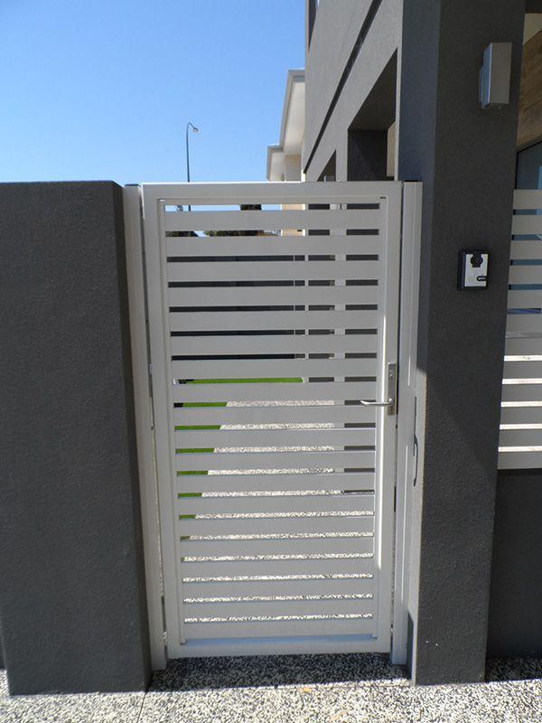 Aluminium Slat Fencing - Gate