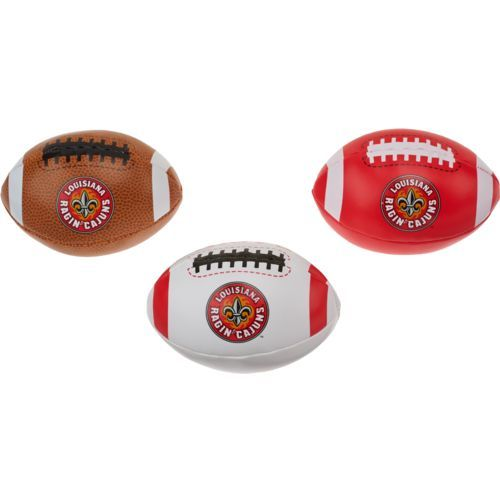 Rawlings Boys' University of Louisiana at Lafayette 3rd Down Softee 3-Ball Football Set (Red, Size ) - NCAA Licensed Product, NCAA Novelty at Acade...