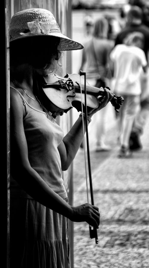 street music by christopher prenzel, via 500px   I want to be this human. want violin skills asap.