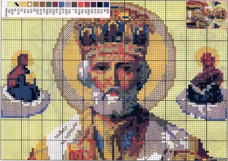 NICHOLAS pleaser - ICONS - cross stitch PATTERNS - File Catalog - HOBBY