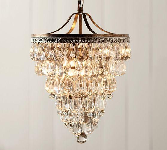 Clarissa Crystal Drop Small Round Chandelier Lighting
