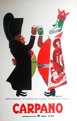 Vintage poster for Carpano vermouth
