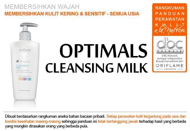 Optimals Cleansing Milk  | #pembersih #wajah #kulit #kering #sensitif #semuausia #tipsdBCN #Oriflame