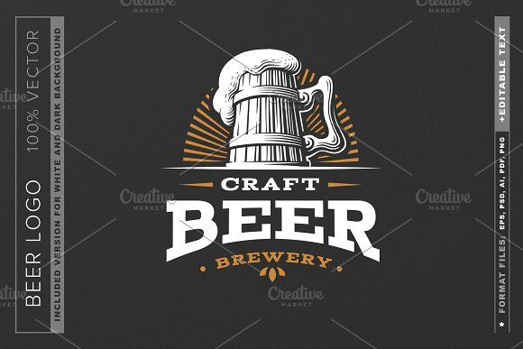 Beer Logo By Sodesign On Creativemarket Di 2021