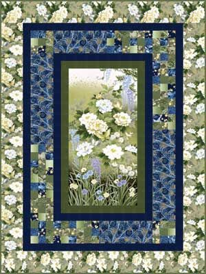 GARDEN OF DREAMS Spotlight Pattern from Keepsake Quilting. Uses panel and pieced borders.                                                                                                                                                                                 More