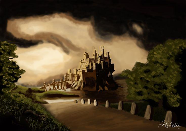 """""""The Castle"""" Landscape Concept Art Digital Painting"""