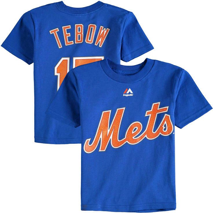 Tim Tebow New York Mets Majestic Toddler Player Name & Number T-Shirt - Royal - $17.99