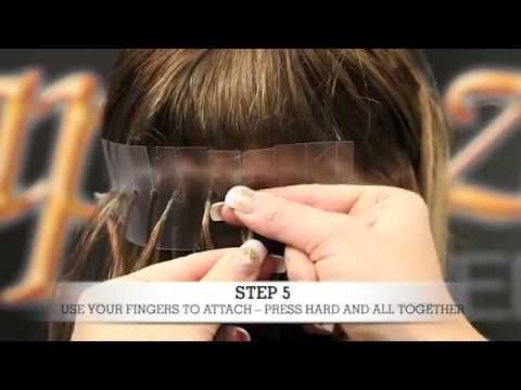 How to Apply Pre-bonded Hair Extensions - YouTube