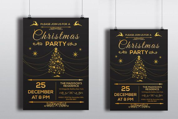21 Best Holiday Party Invitation Templates Images On Pinterest