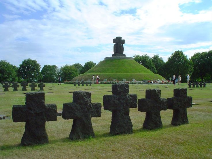 WWII  German Military Cemetery, La Cambe, Normandy, France. About 20,000 German Soldiers are buried here.