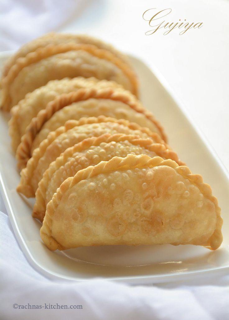 Gujiya Recipe With Mawa, Sweet Empanadas Recipe   Baked & Fried Gujiya Gujiya is a fried crispy flaky pastry stuffed with sweet mawa filling. It is prepared in different states with different names. #rachnaskitchen #sweetempadanas #gujiya