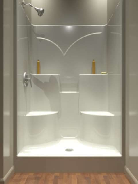 1000 Ideas About One Piece Shower Stall On Pinterest