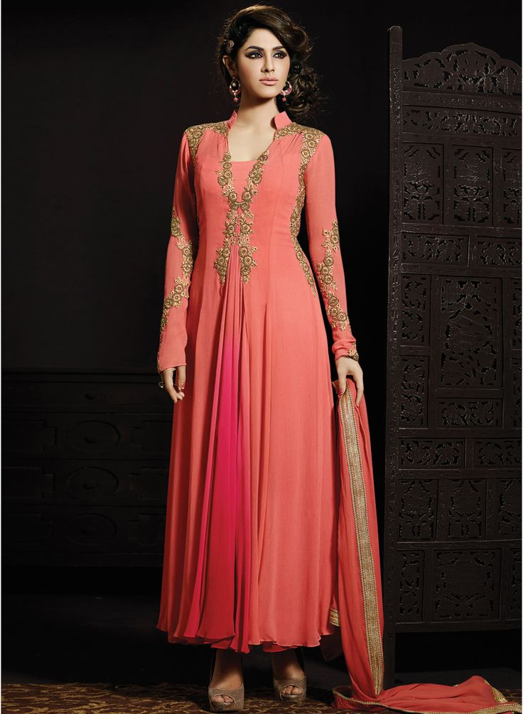 Buy Inddus Pink Embroidered Dress Material for Women Online India, Best Prices, Reviews | IN101WA85WMGINDFAS