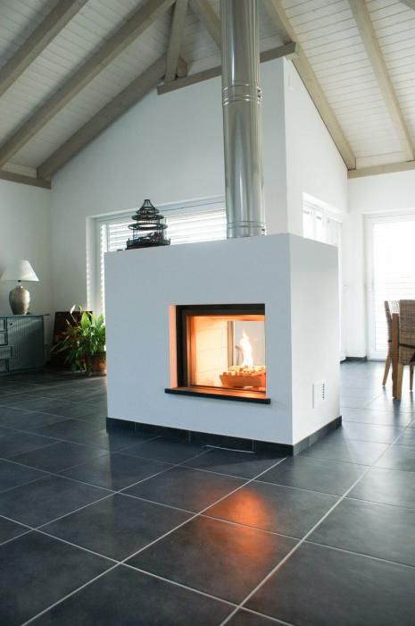 Tv Naast Open Haard 390 Best See Thru Fireplaces Images On Pinterest | Modern