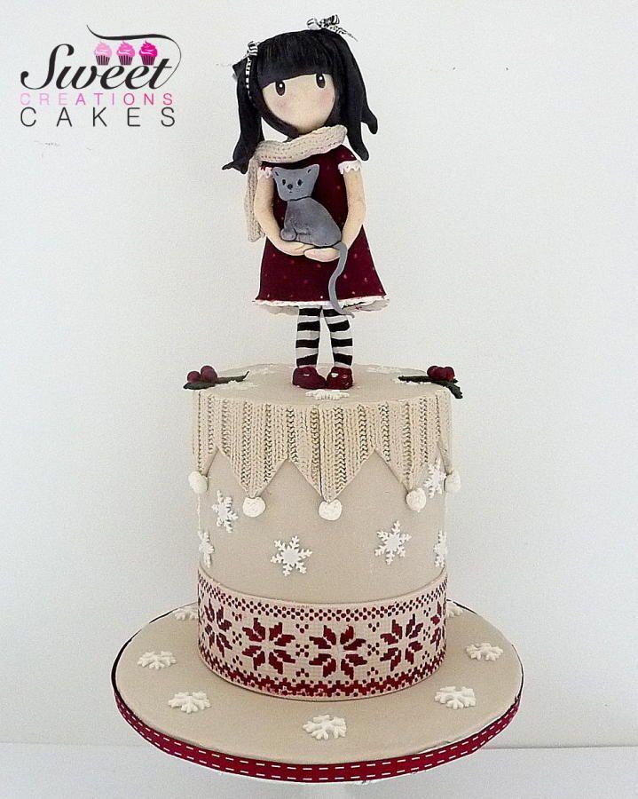 Gorjuss christmas/winter cake - Cake by Sweet Creations Cakes