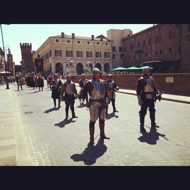 Parade before our VIP booth for the Palio in Ferrara - Instagram by @keaneiscool