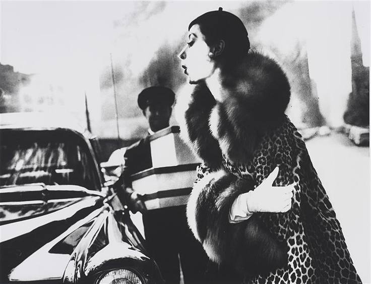 The Spotted Furs, Furred: Barbara Mullen in a Coat by Traina-Norell, New York, Harper's Bazaar  - LILLIAN BASSMAN