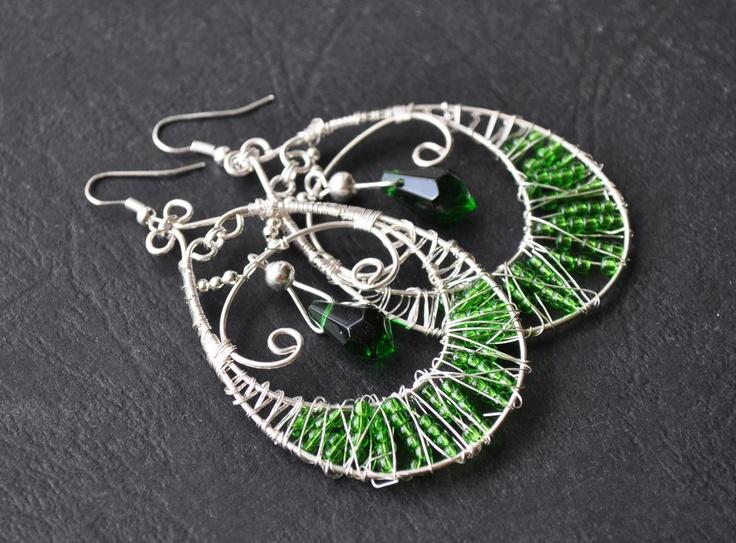 Hand made jewellery; earrings by Martyna; find on www.facebook.com/BizuteriaLowyt