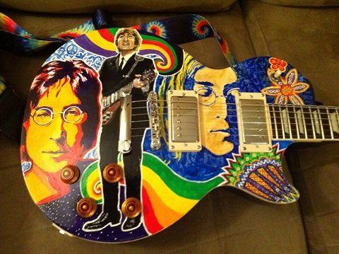 """""""My guitar"""" : julester2007 - flickr -- pp: John Lennon guitar. Visual for lesson"""