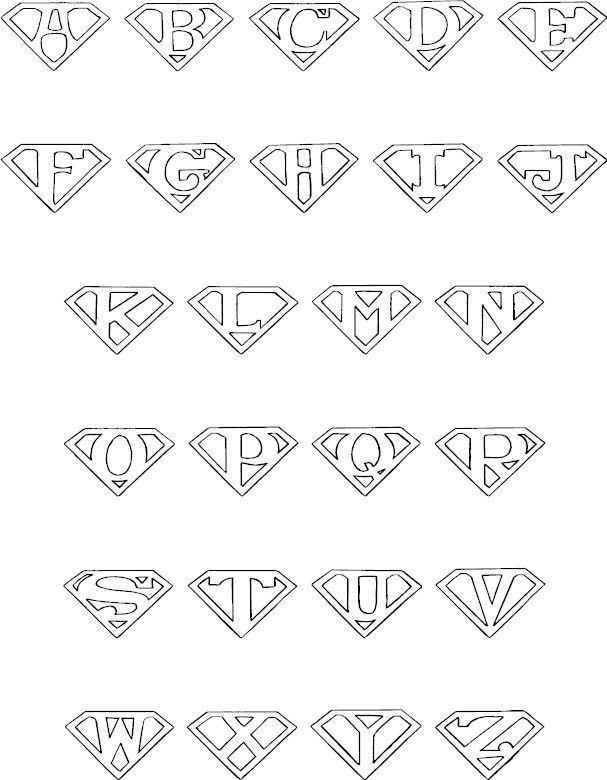 superman logo alphabet - Google Search