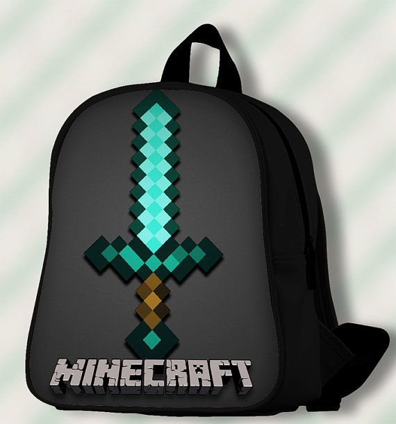 Diamond Sword Minecraft  Custom by SmileSchoolBags on Etsy