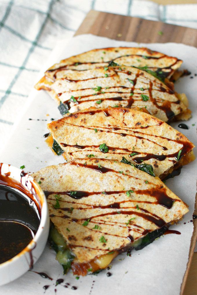 Sweet Potato, Caramelized Onions and Gouda Quesadillas