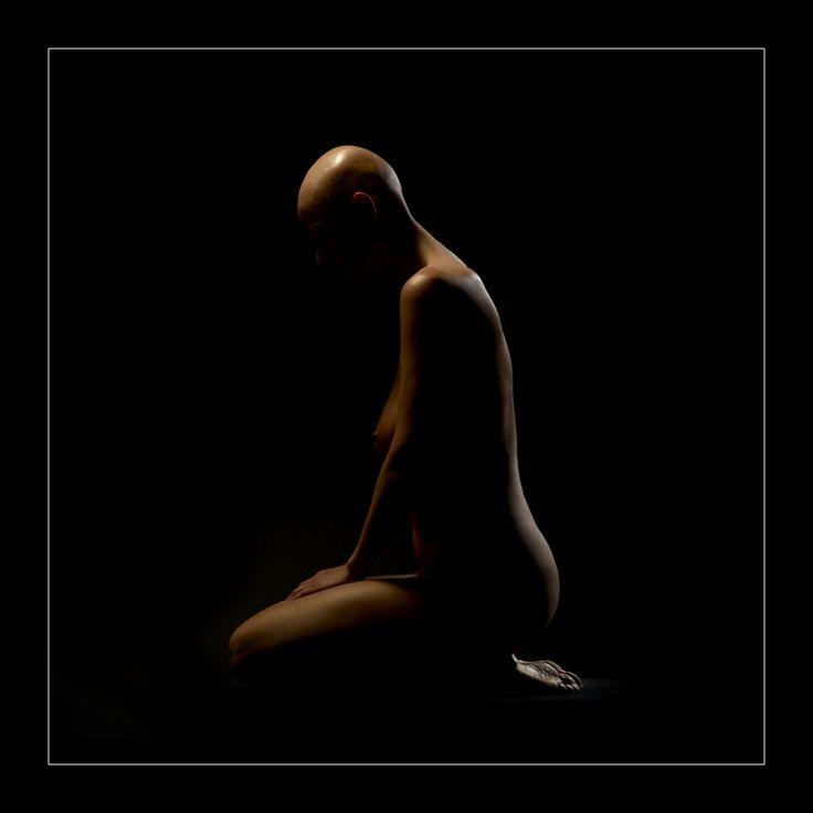 fine art, nude, girl, black