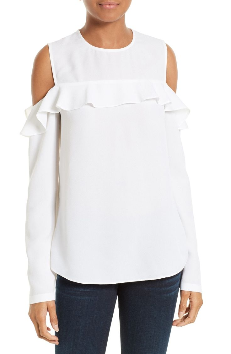 New A.L.C. Elliot Silk Cold Shoulder Top WASHED BLACK fashion online. [$133.98] new offer from Newtstyle Shop<<