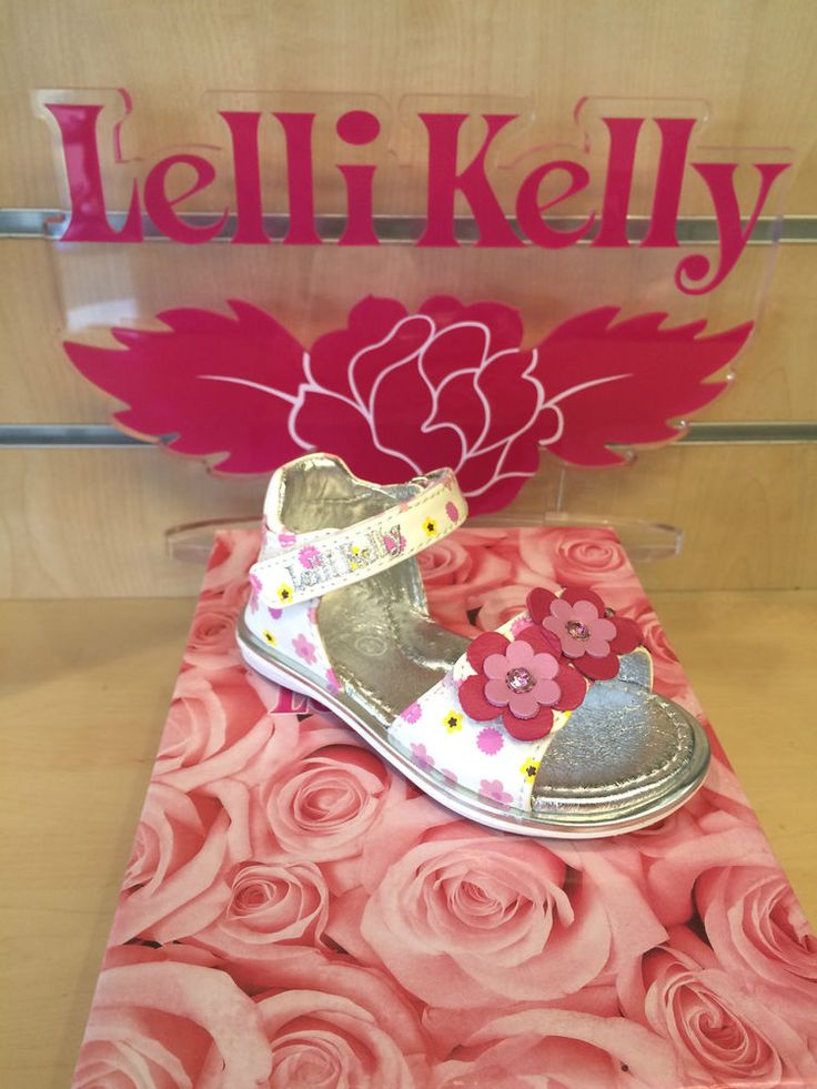 Lelli Kelly Stacy Girls Summer Sandals Size 20 21 22 23 24 25 New White Velcro