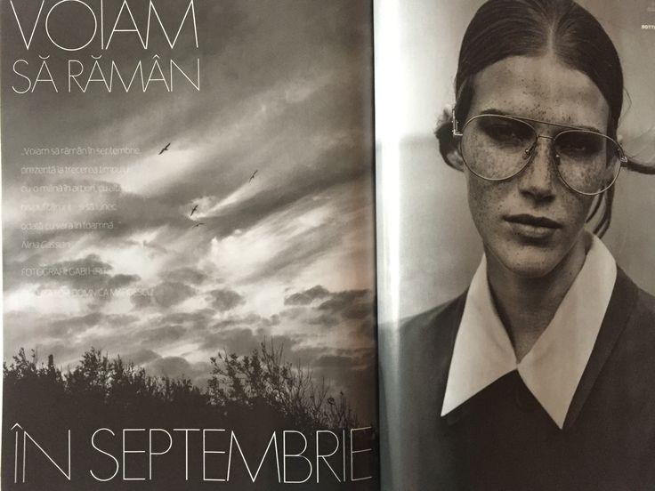 ELLE Romania, October issue. A beautiful fashion editorial by Domnica Margescu and Gabi Hirit; sunglasses: Bottega Veneta, via OPTIblu