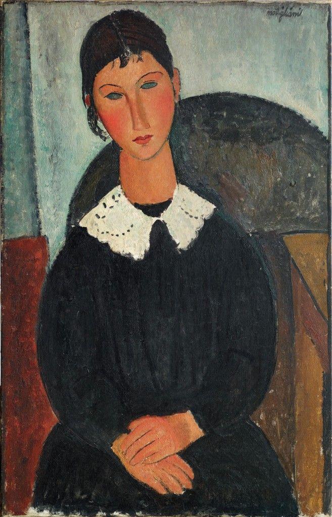 Amedeo Modigliani, Elvire con colletto bianco (Elvire con collettino) 1917 o 1918