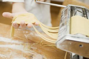 Making home-made ribbon pasta with pasta maker - Foodcollection/Getty Images