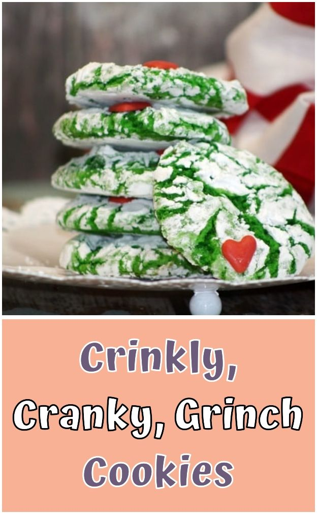 Crinkly Cranky Grinch Cookies Crinkly Cranky Grinch Cookies I Would