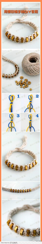 Armband van draad en moertjes