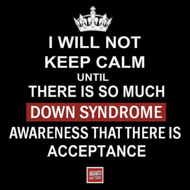 October:Down Syndrome Awareness Month