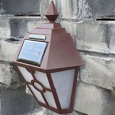 retro leidde zonne-verlichting buitentuin Solar LED wandlamp waterdichte pad Solar LED straatverlichting hek dakterras verlichting – EUR € 10.65