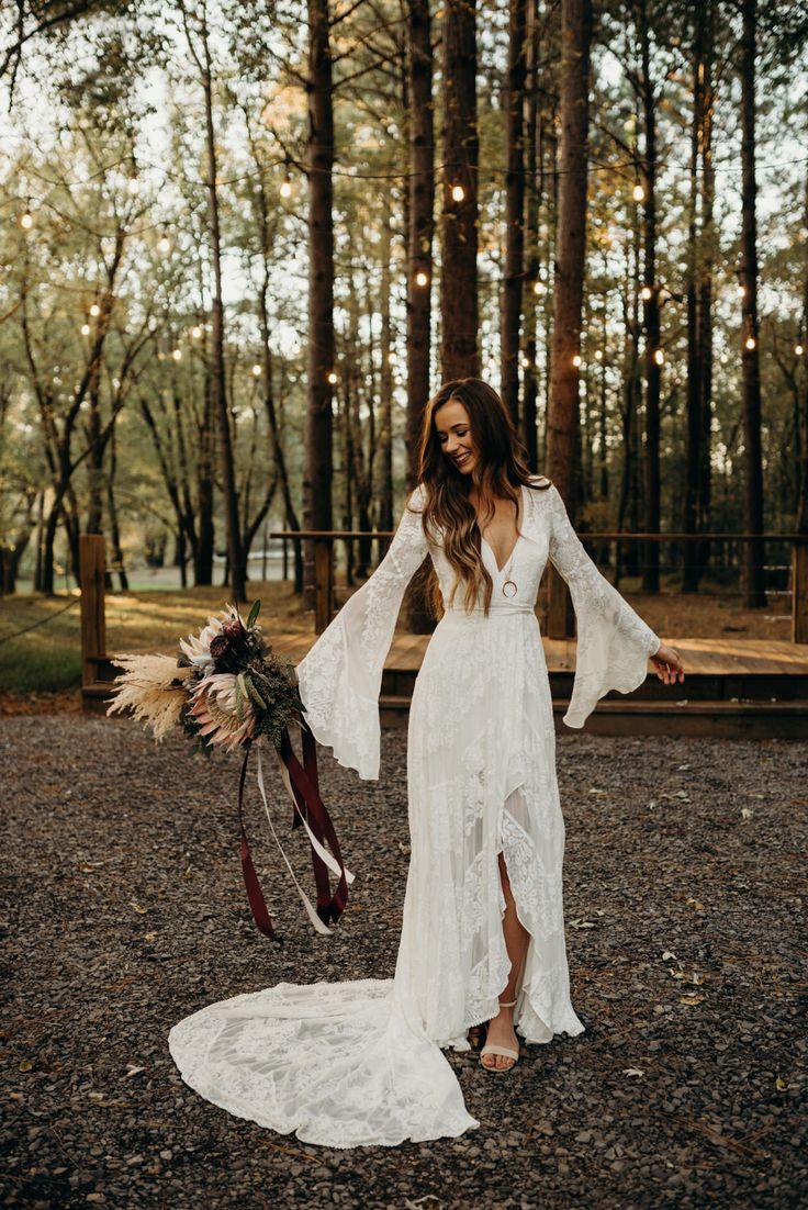 Boho Bride, Bell Sleeved Wedding Dress, Indie Bride, Rue de Seine Bridal, Bohemian Bride