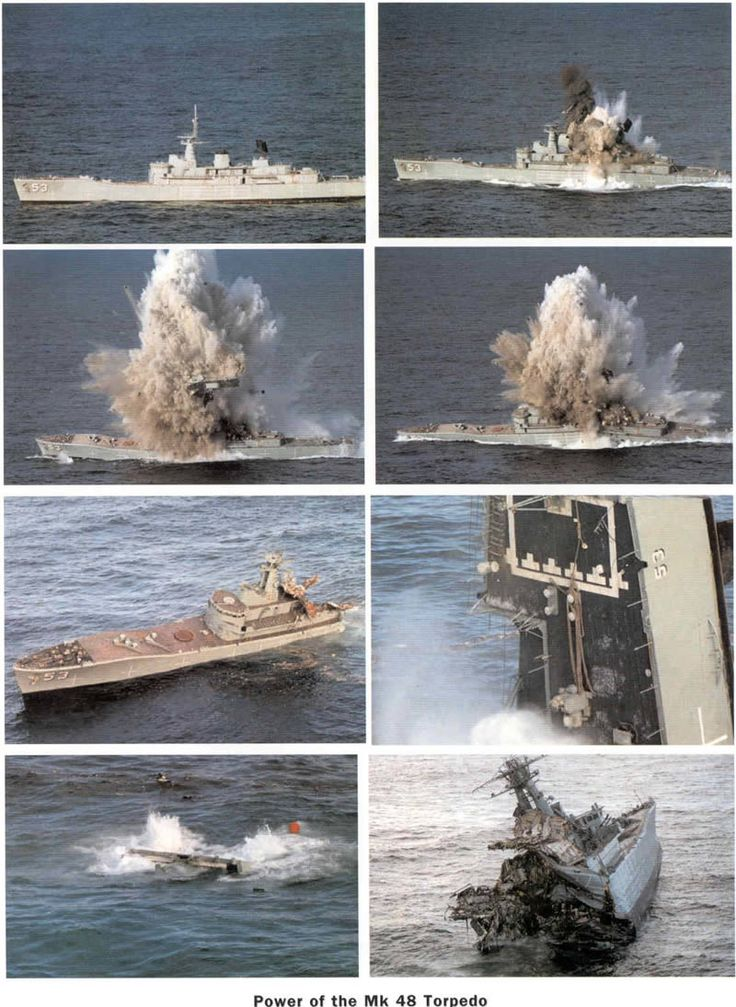 Effect of Mk-48 Torpedo Attack on Modern Warship (in this case a Leander Class Frigate)  #Torpedo #SSN #SSK #Submarine #TorpedoAttack