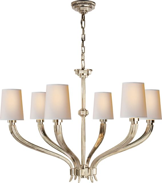 Ruhlmann six light chandelier