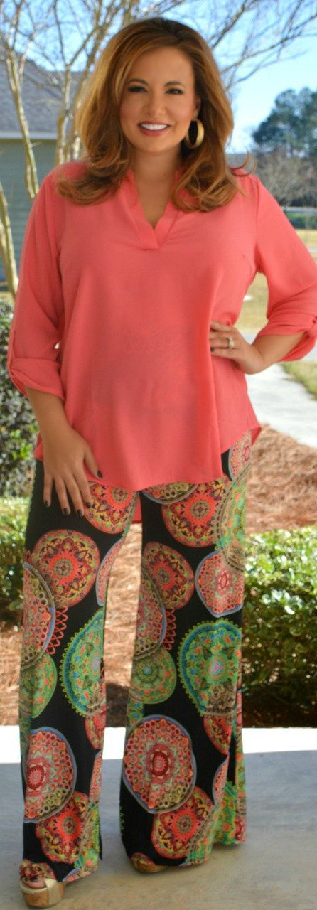 Perfectly Priscilla Boutique - Don't Medal In My Business Palazzo Pants, $36.00 (http://www.perfectlypriscilla.com/dont-medal-in-my-business-palazzo-pants/)