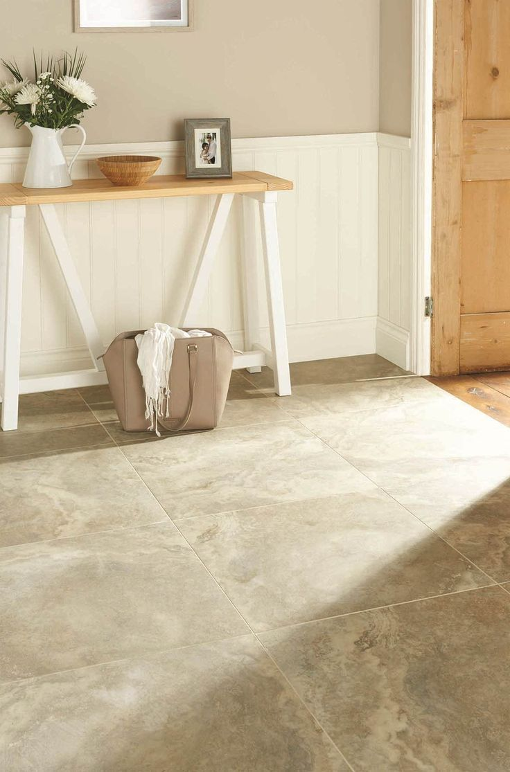 Sicily - part of Original Style's Tileworks collection - soft travertine stone effect tiles are available in four colourways; white, sabbia, noce and grigio
