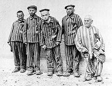 Five handicapped Jewish prisoners who arrived in Buchenwald after Kristallnacht.