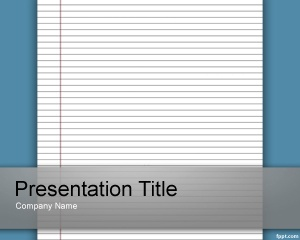 Best Powerpoint Templates Images On Pinterest Plants Back To - Best of notebook paper powerpoint template design