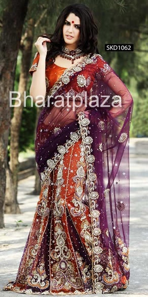 Wedding Look Lehenga Sari