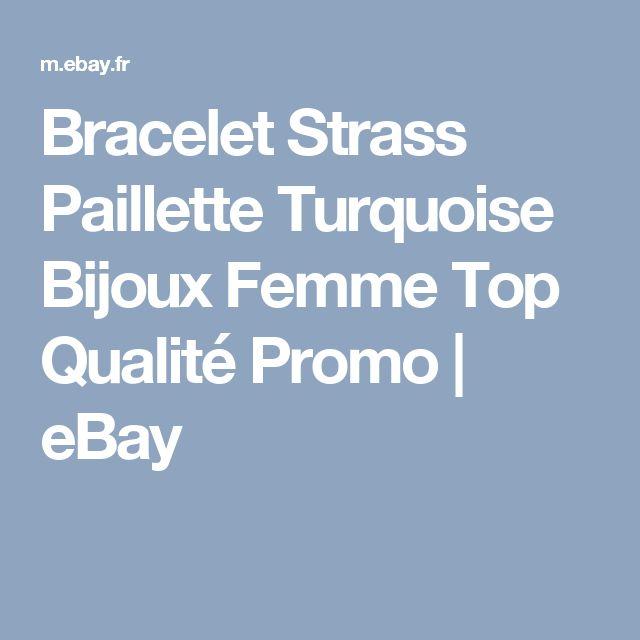 Bracelet   Strass Paillette Turquoise  Bijoux Femme  Top Qualité  Promo   eBay