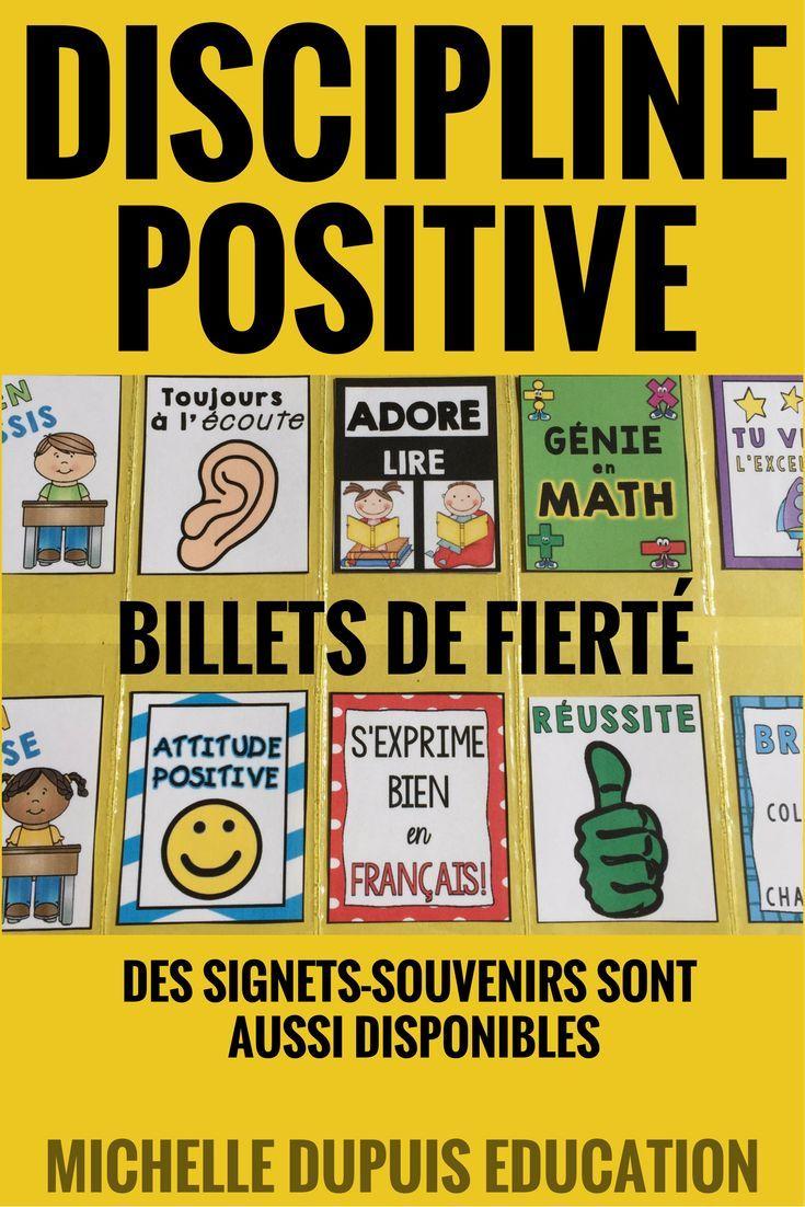Rentrée scolaire: Cette ressource est parfaite pour établir une DISCIPLINE POSITIVE en salle de classe. Les élèves recoivent des billets de fierté et des signets souvenirs pour leurs bons comportements.