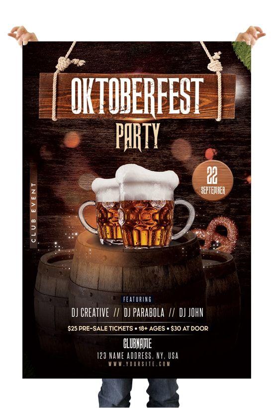Oktoberfest Free Photo Psd Flyer Template