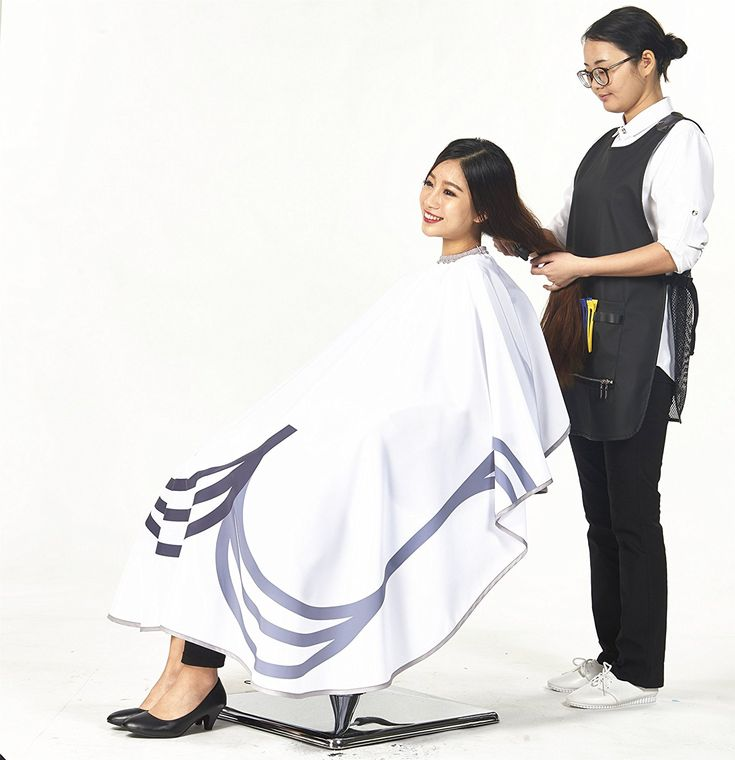 SMARTHAIR Professional Salon Cape Polyester Haircut Apron Hair Cut Cape,54'x62',White,C406001B * Learn more by visiting the image link. #hairstyle