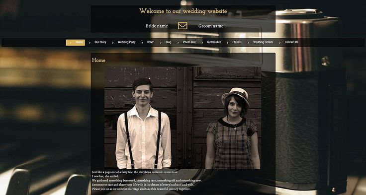Online Wedding Invitation.  Great wedding invitation website theme for a Vintage wedding. Visit www.mywedding.online and create your own website.